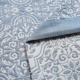 Плед ЛЕТНИЙ хлопковый муслин, наполнитель искусственный шелк 160х220 см, 1389-OS