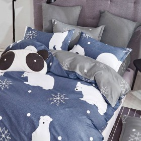 Комплект постельного белья 1,5-спальный, печатный сатин 1395-4S