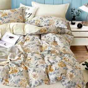 Комплект постельного белья Евро, печатный сатин 1409-6