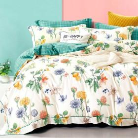 Комплект постельного белья Семейный, печатный сатин 1466-7