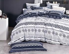 Комплект постельного белья 1,5-спальный, печатный сатин 1472-4S
