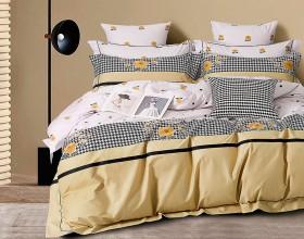 Комплект постельного белья Евро, печатный сатин 1475-6