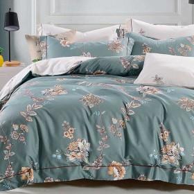 Комплект постельного белья Семейный, печатный сатин 1480-7