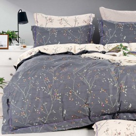 Комплект постельного белья Евро, печатный сатин 1485-6