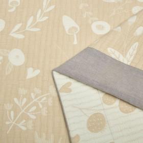 Плед ЛЕТНИЙ хлопковый муслин, наполнитель искусственный шелк 160х220 см, 1511-OS