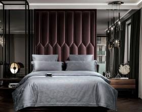 Комплект постельного белья 1,5-спальный, хлопковый жаккард 1645-4S