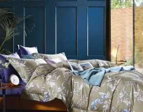 Комплект постельного белья 1,5-спальный, египетский хлопок 1591-4S